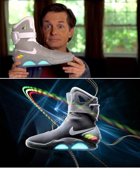 """Nike released this limited edition of """"Back To The Future II"""" shoes to  support. Michael J FoxUnique ..."""