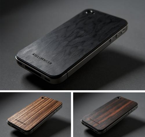 Bumpers de madera para iPhone.