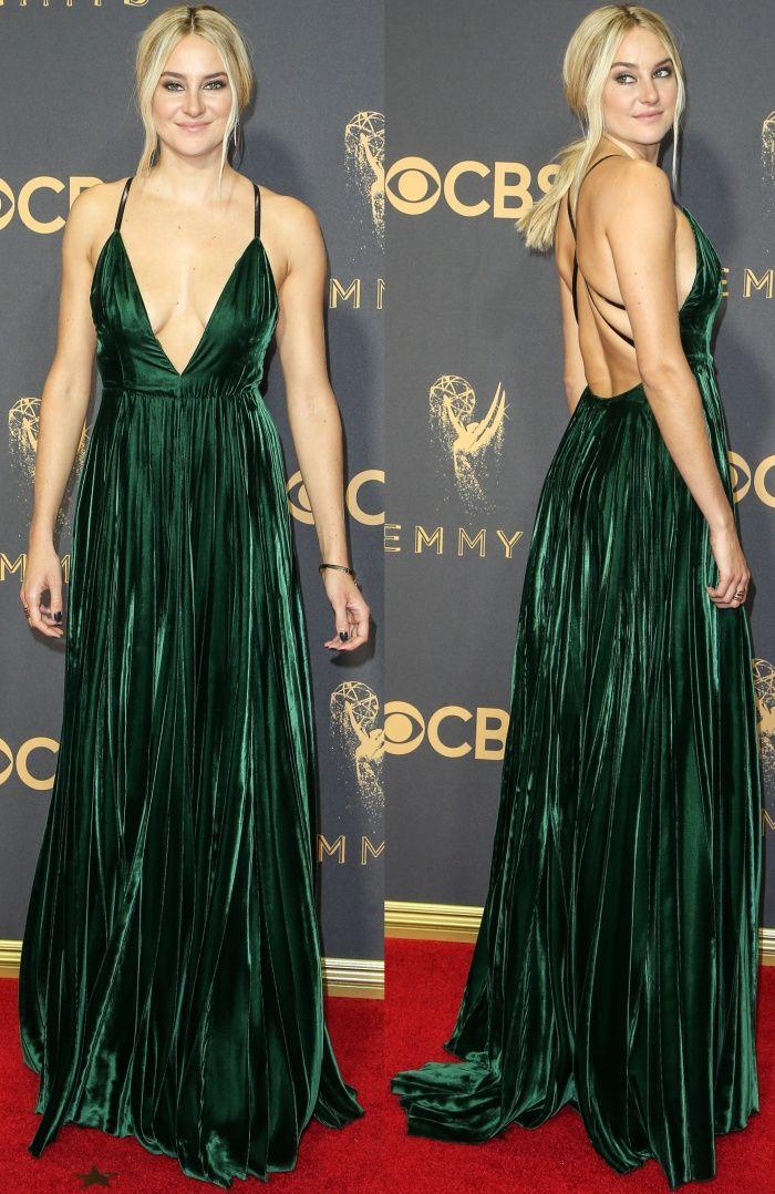 alennus uk myymälä halvempaa Shailene Woodley wore a custom velvet design from Ralph ...