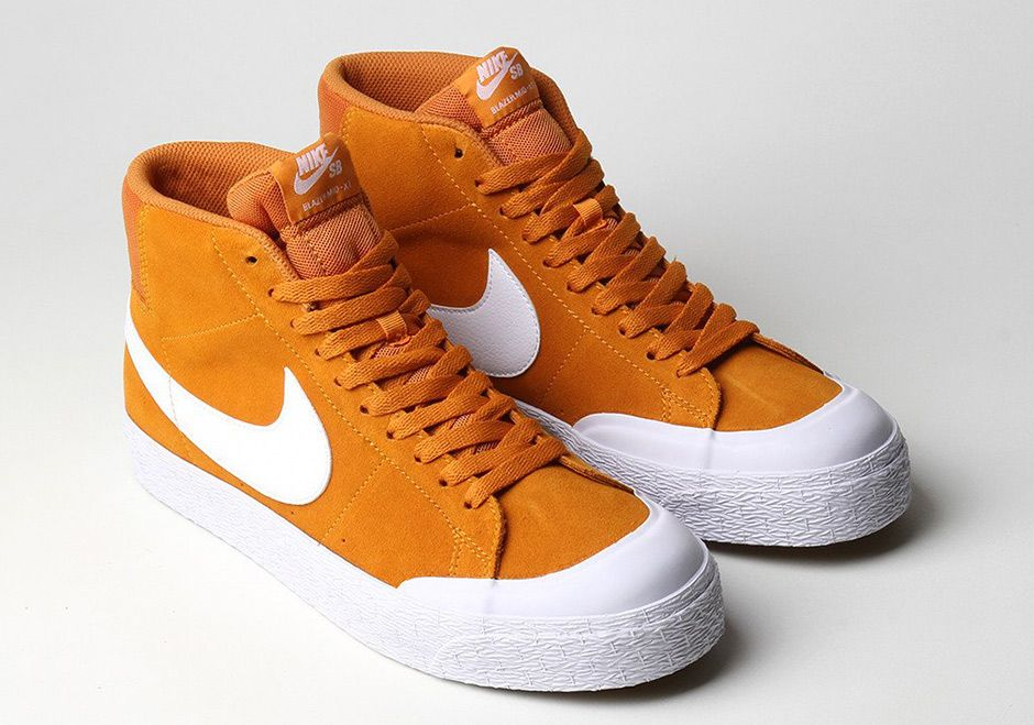 00af1abc The Nike SB Blazer Mid XT Circuit Orange (Style Code: 876872-819) is now  available featuring Zoom cushioning and ultra durable suede on the upper.  $90 USD