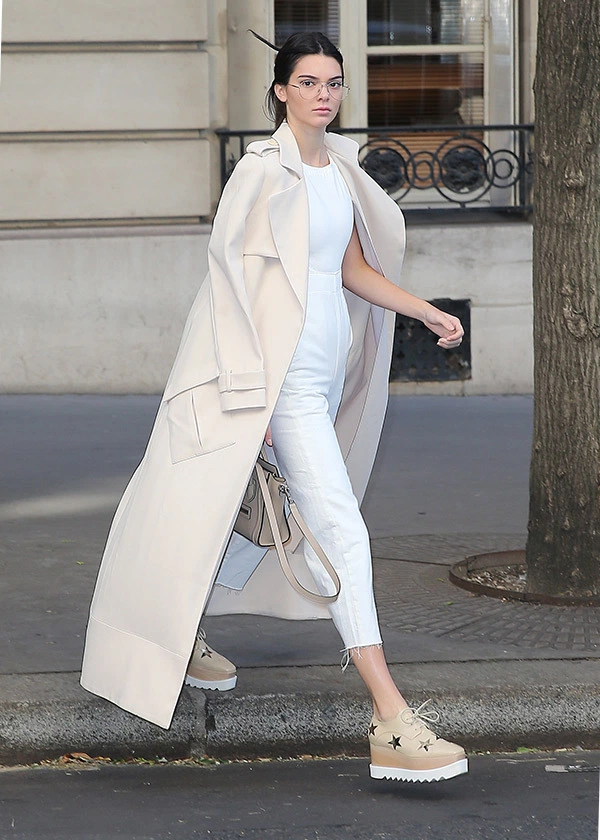 Kendall Jenner White Pantsuit