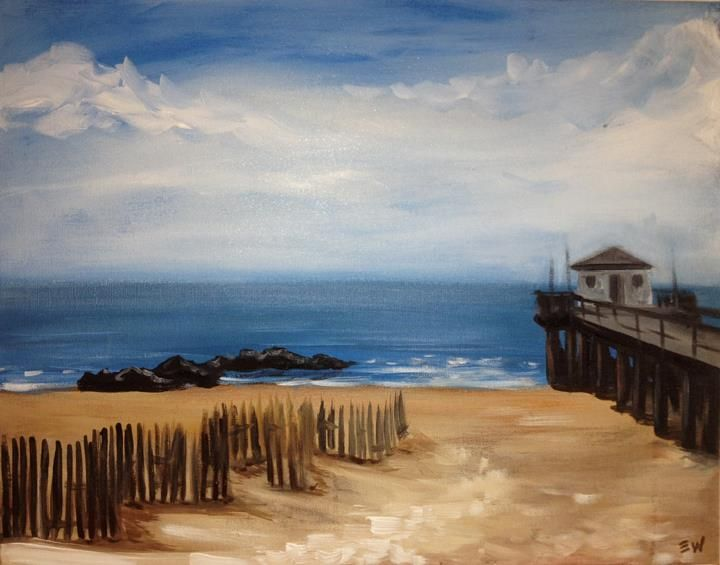 Unnamed, from Painting with a Twist; need to make house on pier have some color.