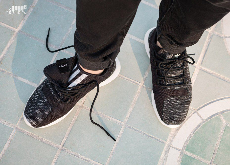 adidas Tubular Shadow Knit Core Black  Utility Black  Vintage White