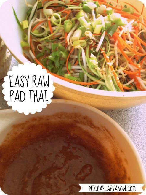 raw pad thai,: clean eating, raw, simple, healthy.
