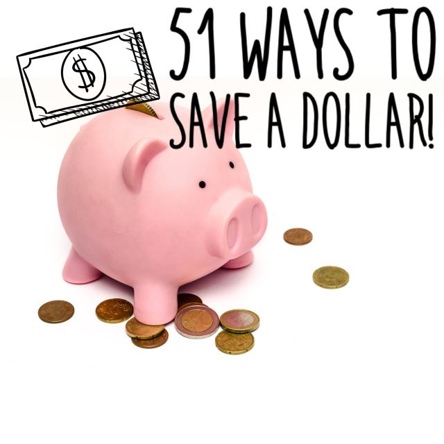 51 Ways To Save A Dollar / CrazyThriftyMommy