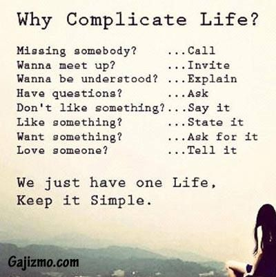 Samantha Faiers On Twitter Why Complicate Life Simple Life Quotes Words