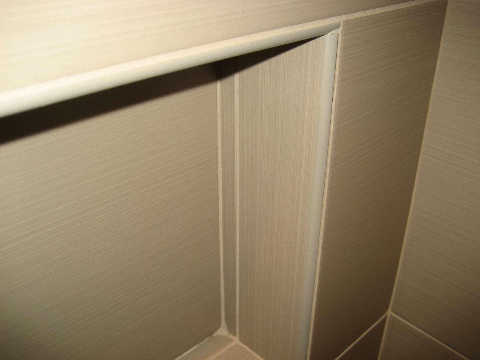 Schluter Jolly Edge Trim In Contemporary Shower Bathroom