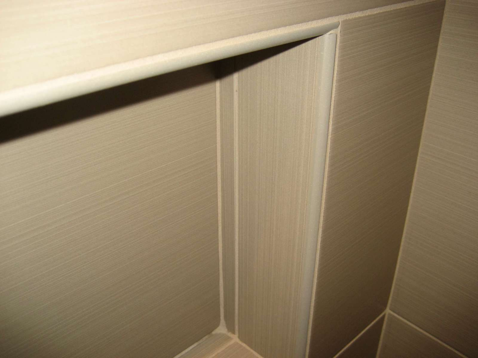 schluter jolly edge trim in contemporary shower | Bathroom & Home ...