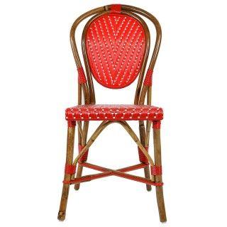 Incredible Red White Mediterranean Bistro Chair L Maison Midi Is Home Interior And Landscaping Ponolsignezvosmurscom