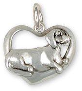 Dachshund Pendant Jewelry Sterling Silver Handmade Dog Pendant DA27-P