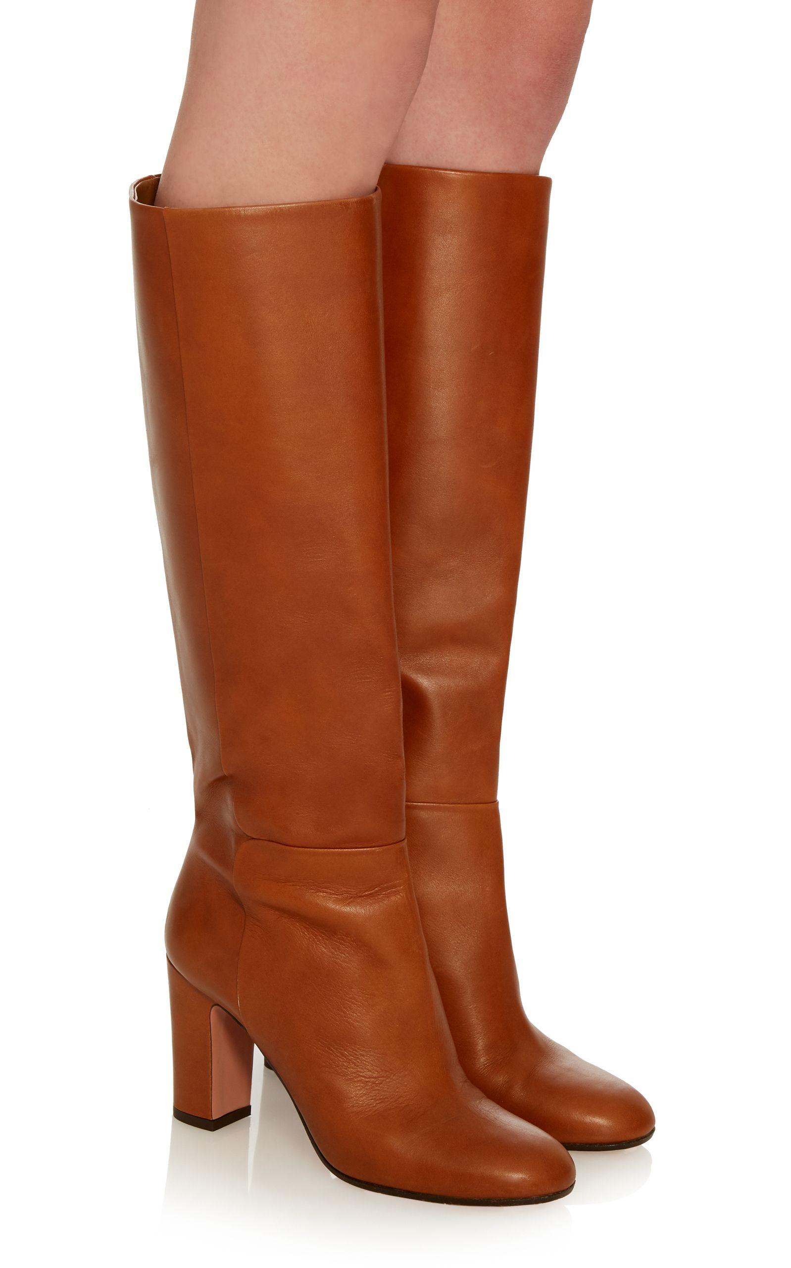 Aquazzura Brera Leather Boots Ysnrn