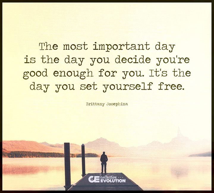 It's the day you set yourself free...