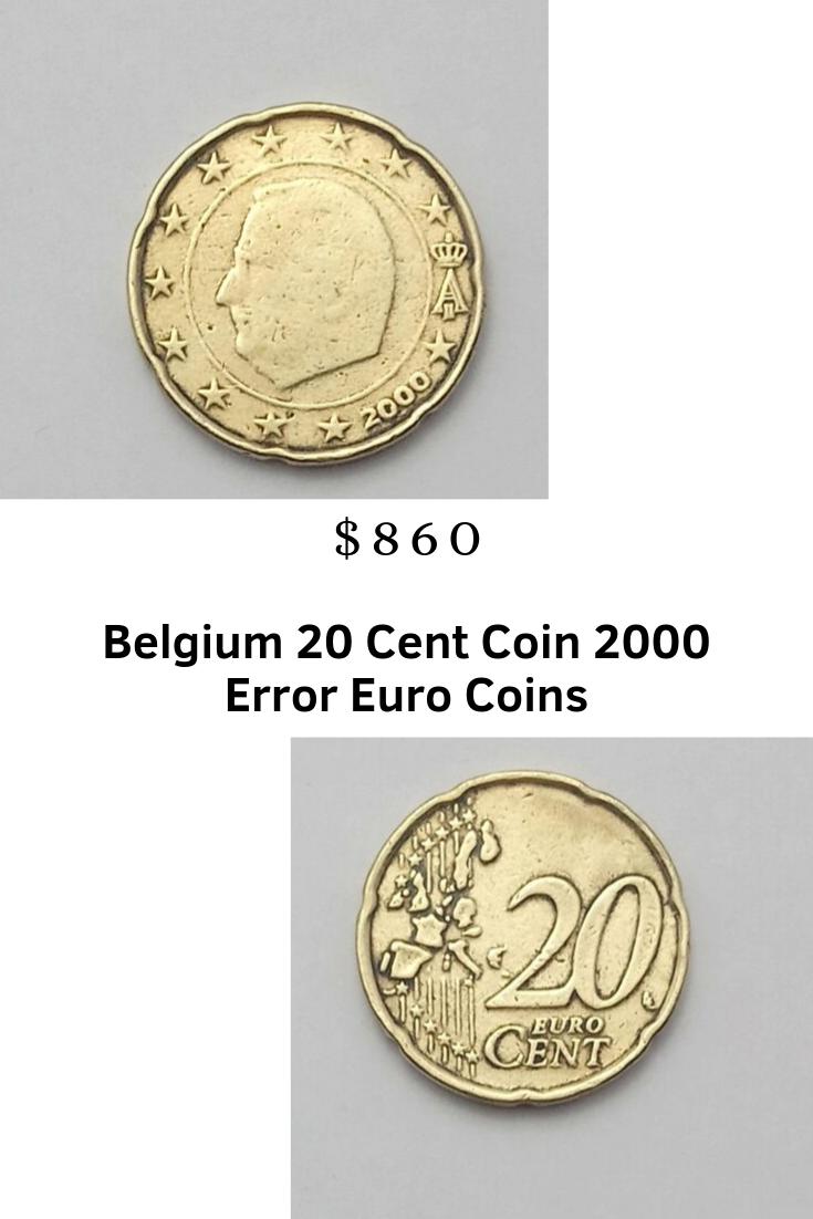 Belgium 20 Cent Coin 2000 Error Stamping Weakness Euro Coins Rare Ebay Coins Euro Coins Rare Coins Worth Money
