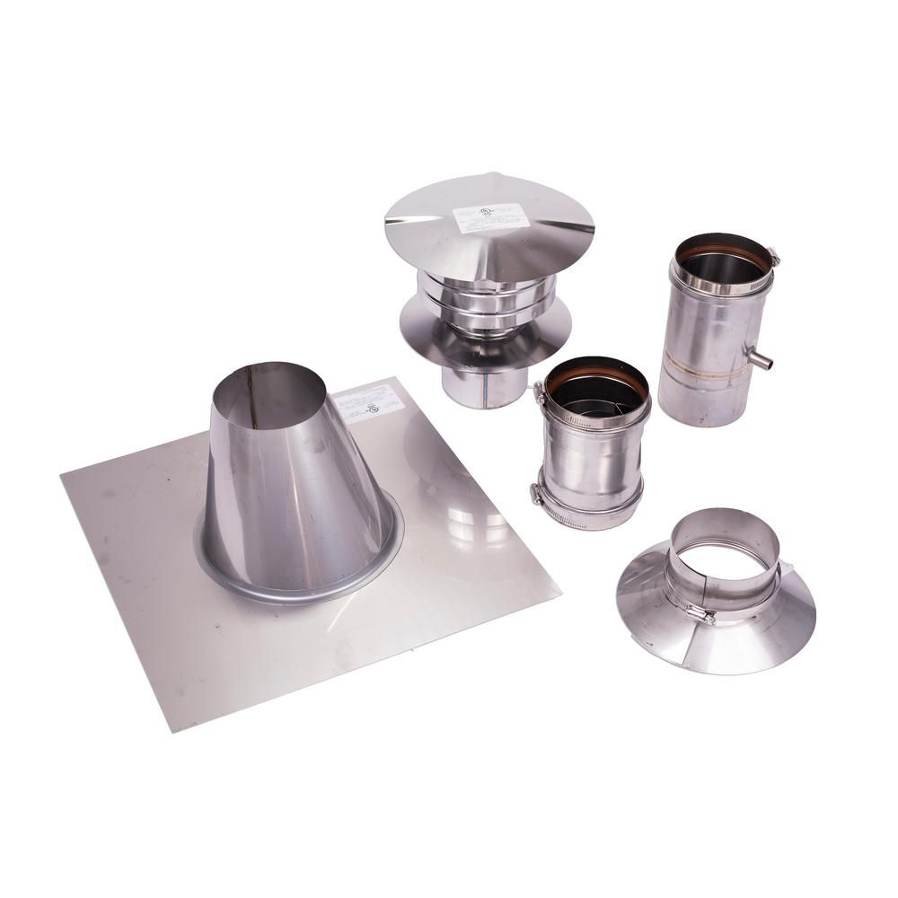 Eccotemp 4 In Vertical Stainless Steel Venting Kit In