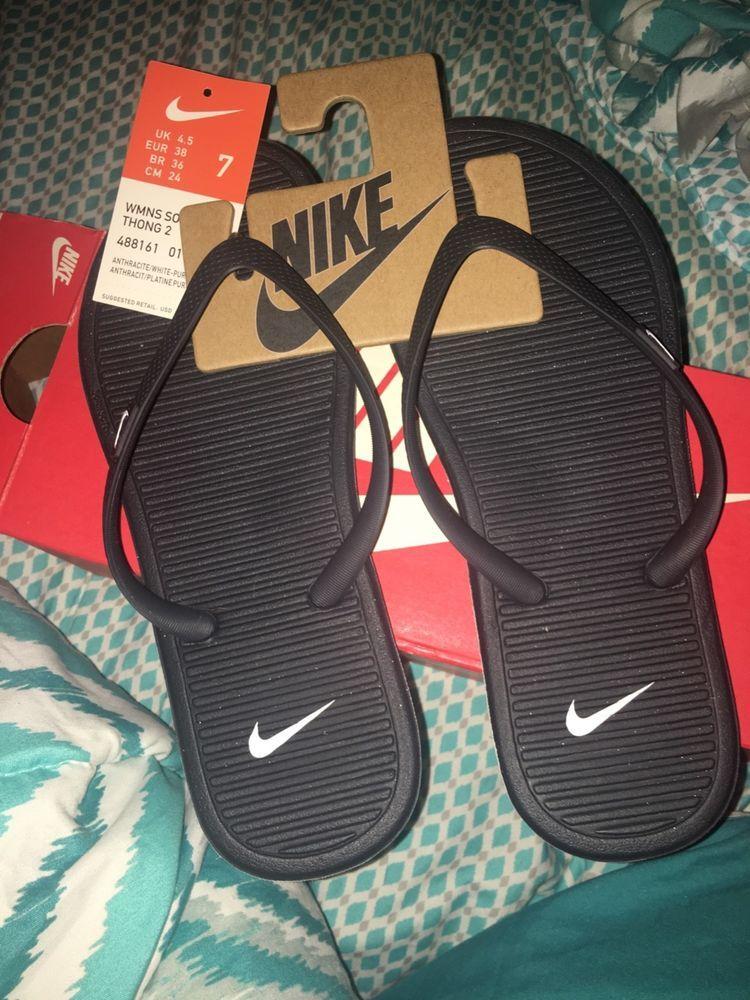 80a65a10b Nike Solar Soft Thong Flip Flops Women s Size 7  fashion  clothing  shoes