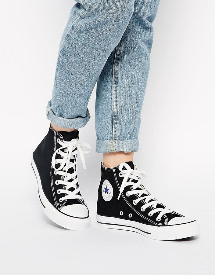 5d45e801773c6a Converse Chuck Taylor All Star high top black sneakers in 2019 ...