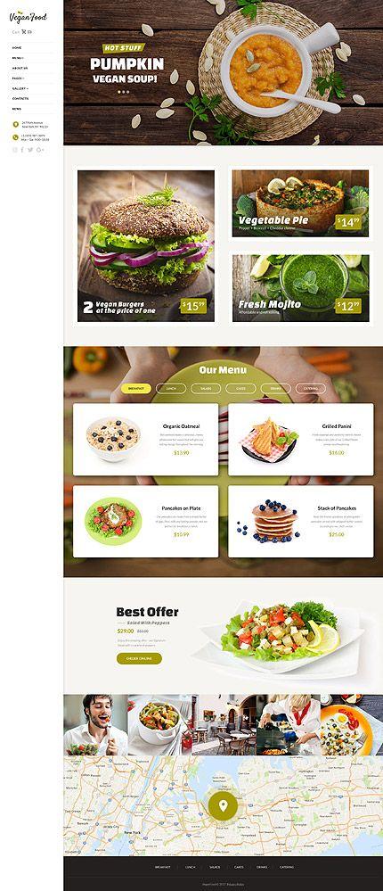 vegan restaurant website template themes business responsive websitethemes