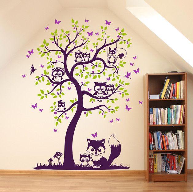 wandtattoo eulen eulenbaum eulenwandtattoo m1544 wandtattoo eule wandtattoo und wandtattoos. Black Bedroom Furniture Sets. Home Design Ideas