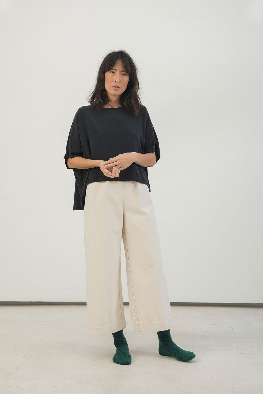 964d7f0d Linn Tee in Silk Crepe   Clothes   Cotton canvas, Pants, Silk crepe