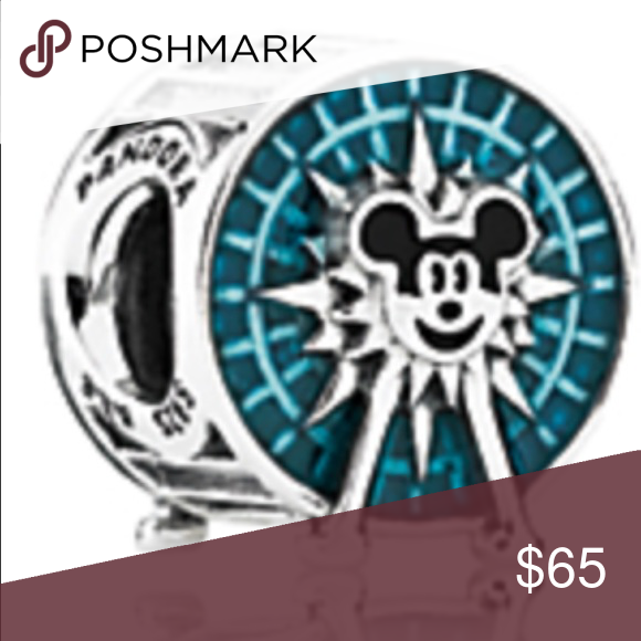 Authentic Pandora Disney bead/Disneyland This is a BN Authentic bead that you can only get in the Disneyland park. It is very cute and would match any other Disney beads or on a chain. I paid $85 for this bead. The color is actually turquoise. Pandora Jewelry Bracelets