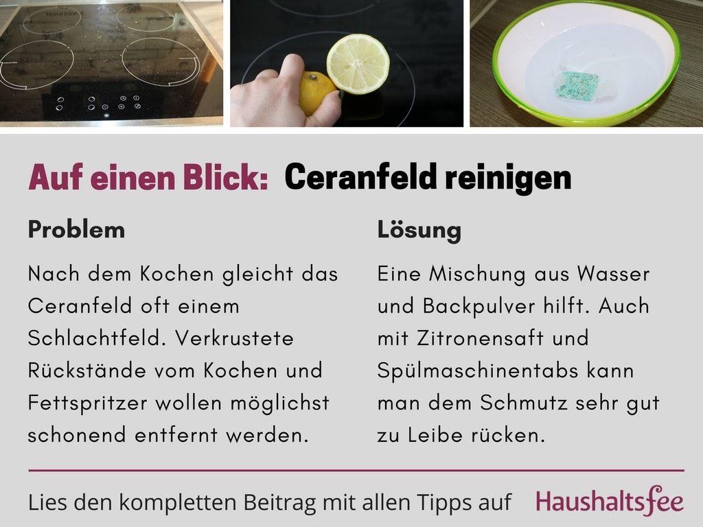 ceranfeld reinigen beste tipps tricks easy living ceranfeld reinigen reinigen und. Black Bedroom Furniture Sets. Home Design Ideas