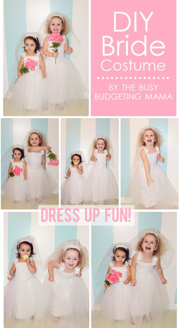 DIY kids bride costume by The Busy Budgeting Mama