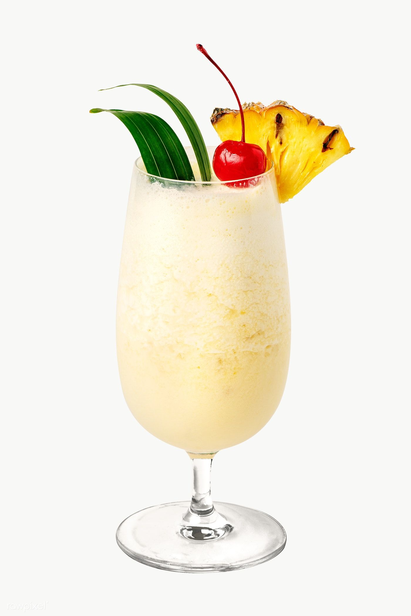 Download Premium Png Of Pina Colada With Pineapple And Cherry On Top