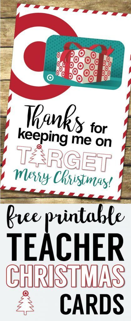 photograph regarding Printable Target Gift Card called Focus Xmas Reward Card Holders Lecturers, Close friends