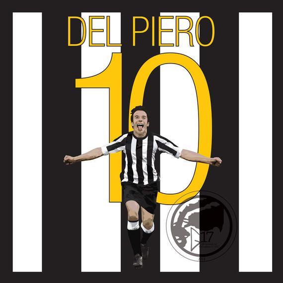 Juventus Alessandro Del Piero Square Canvas Wrap Art Print