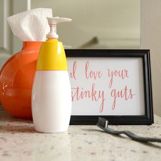 Free Printable Hand Lettered Calligraphy Bathroom Artwork