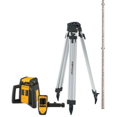 Cst Berger 2000 Ft Self Leveling Horizontal Rotating Laser Level Kit 5 Piece Rotary General Construction Home Depot