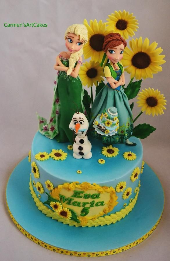 Frozen Fever Birthday Cake Idea Frozen Party Ideas Pinterest