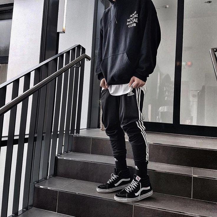 Ant social social club mens hoodie sweater addidas track pants mens vans** Streetwear ** posted ...