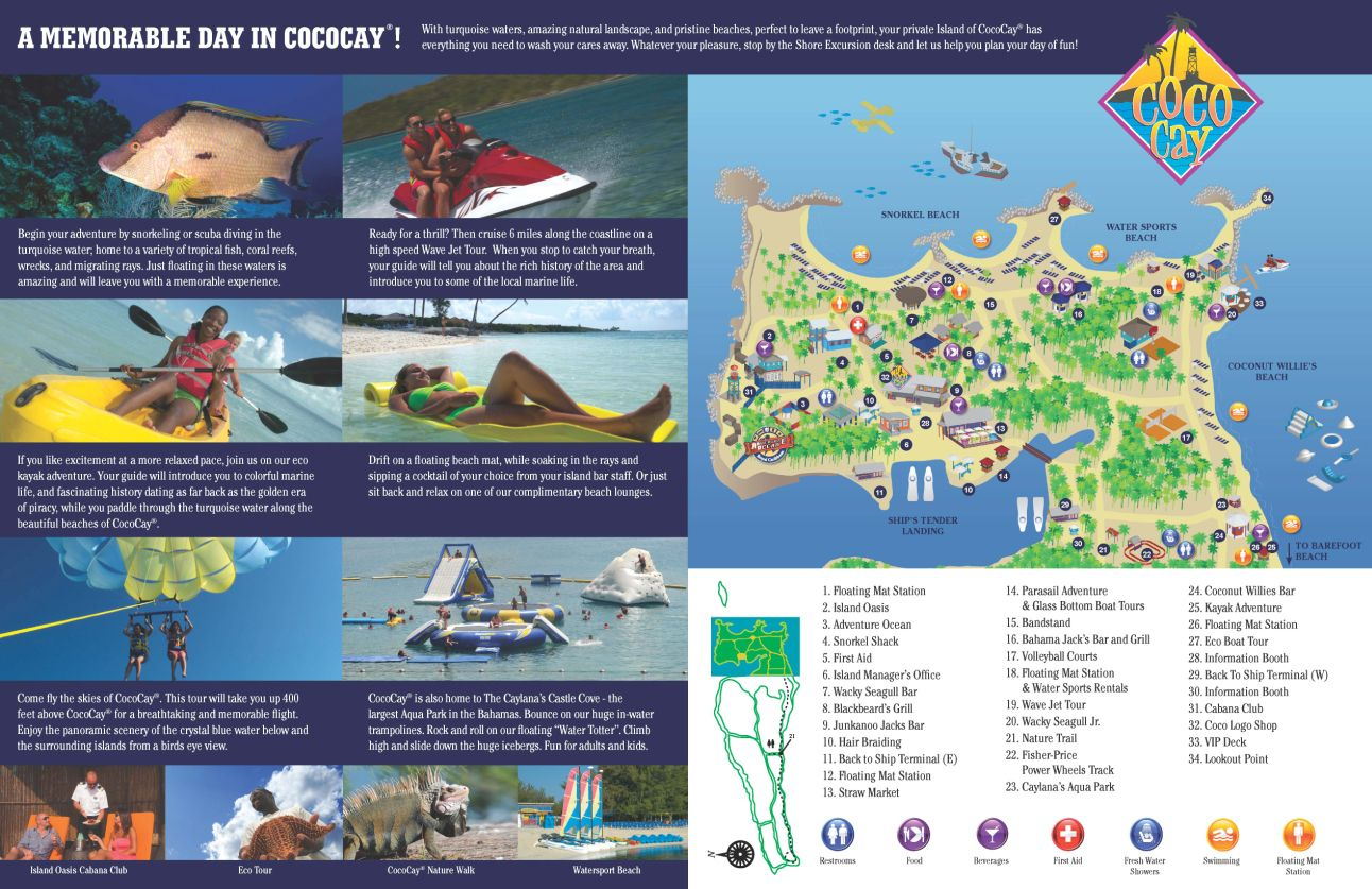CocoCay Map Cruises Pinterest