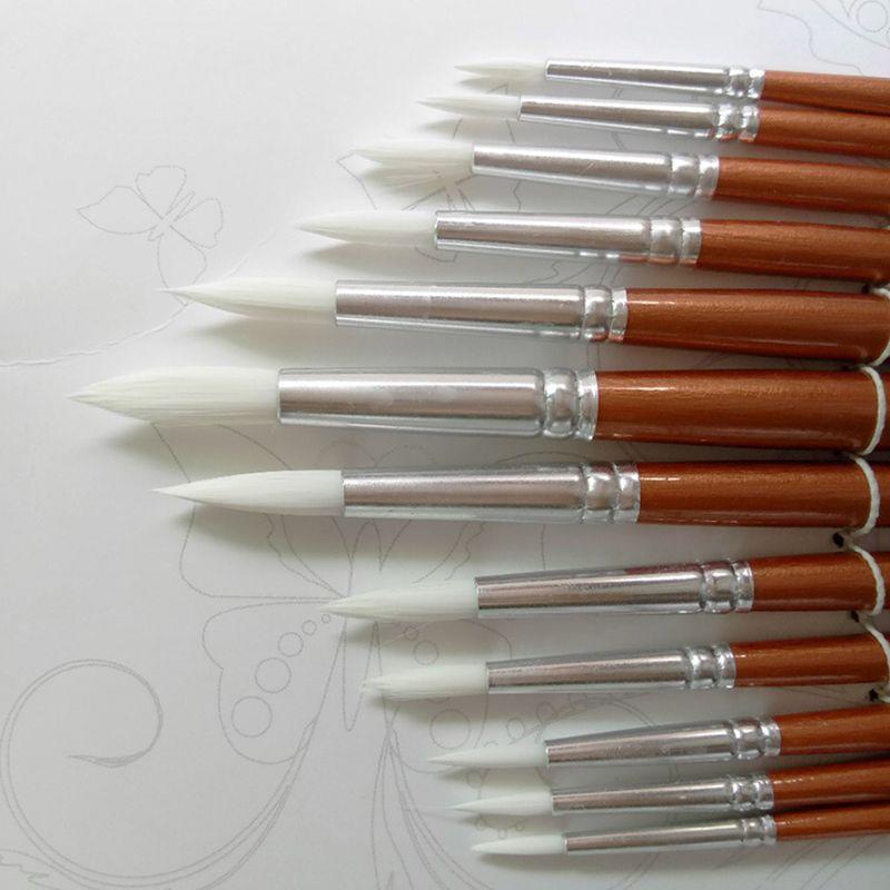 13PCS Filbert Paint Brush Set Sizes 0 2 4 6 8 10 12 14 16 18 20 22 24