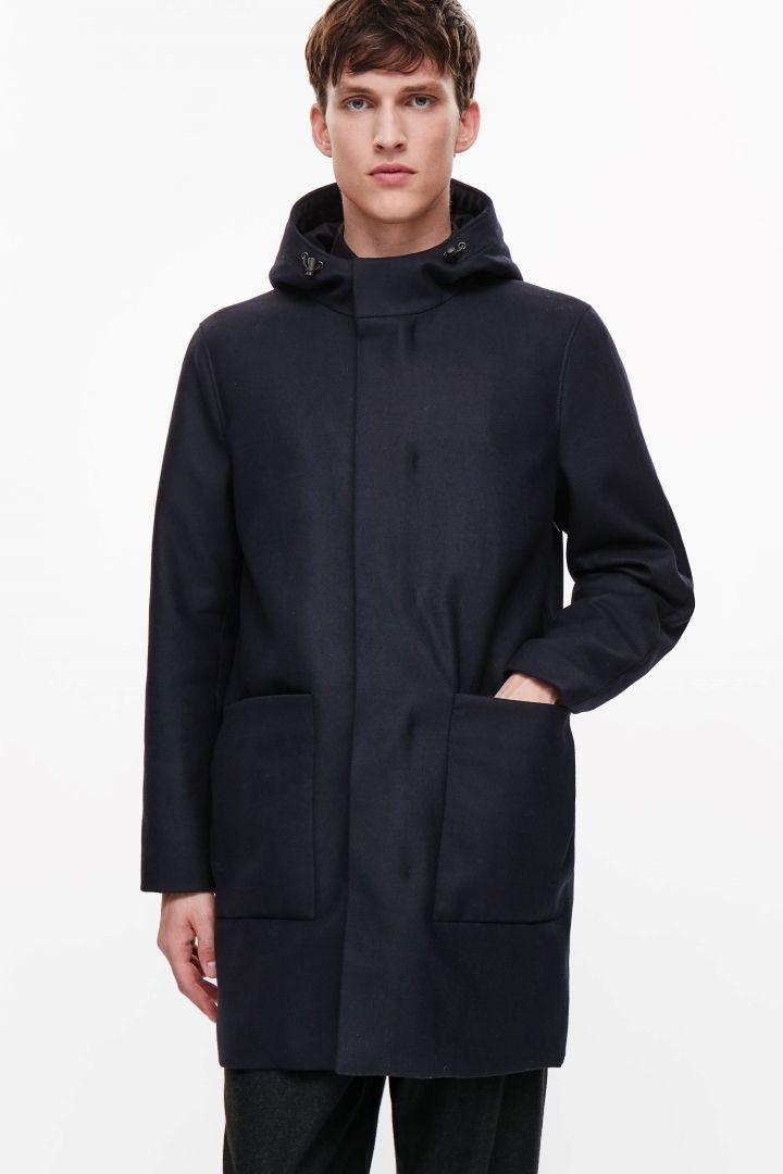 6b07da054281e3 COS WOOL ANORAK $290 Cos Man, Men's Coats And Jackets, Mantel, Man Shop