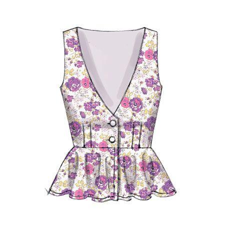 M7023 | Misses' Low-Cut Vests Sewing Pattern M7023