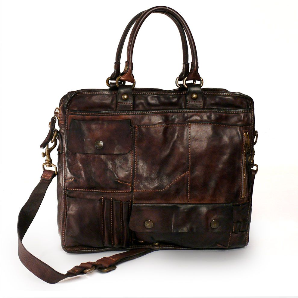 Campomaggi Washed Leather Business Bag   Fashion  Bags   Bags ... b94c023544