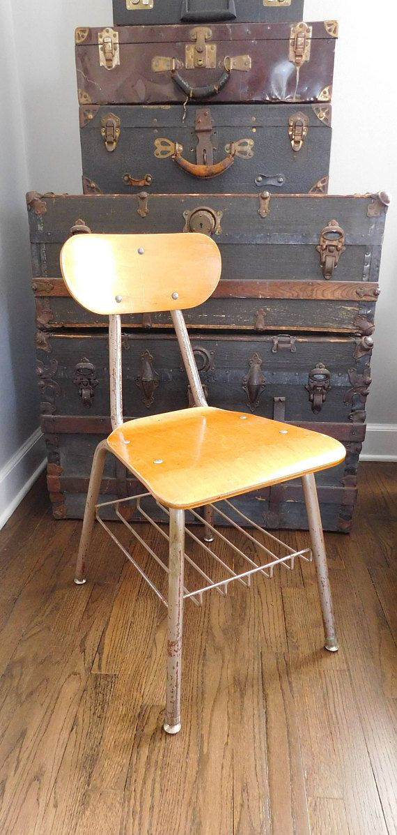 Peachy Mid Century School Desk Chair Measures 32 1 4 Inches In Squirreltailoven Fun Painted Chair Ideas Images Squirreltailovenorg