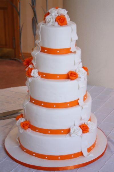 orange and white wedding cakes orange wedding cake by lea74 for a wedding cake guide 18042