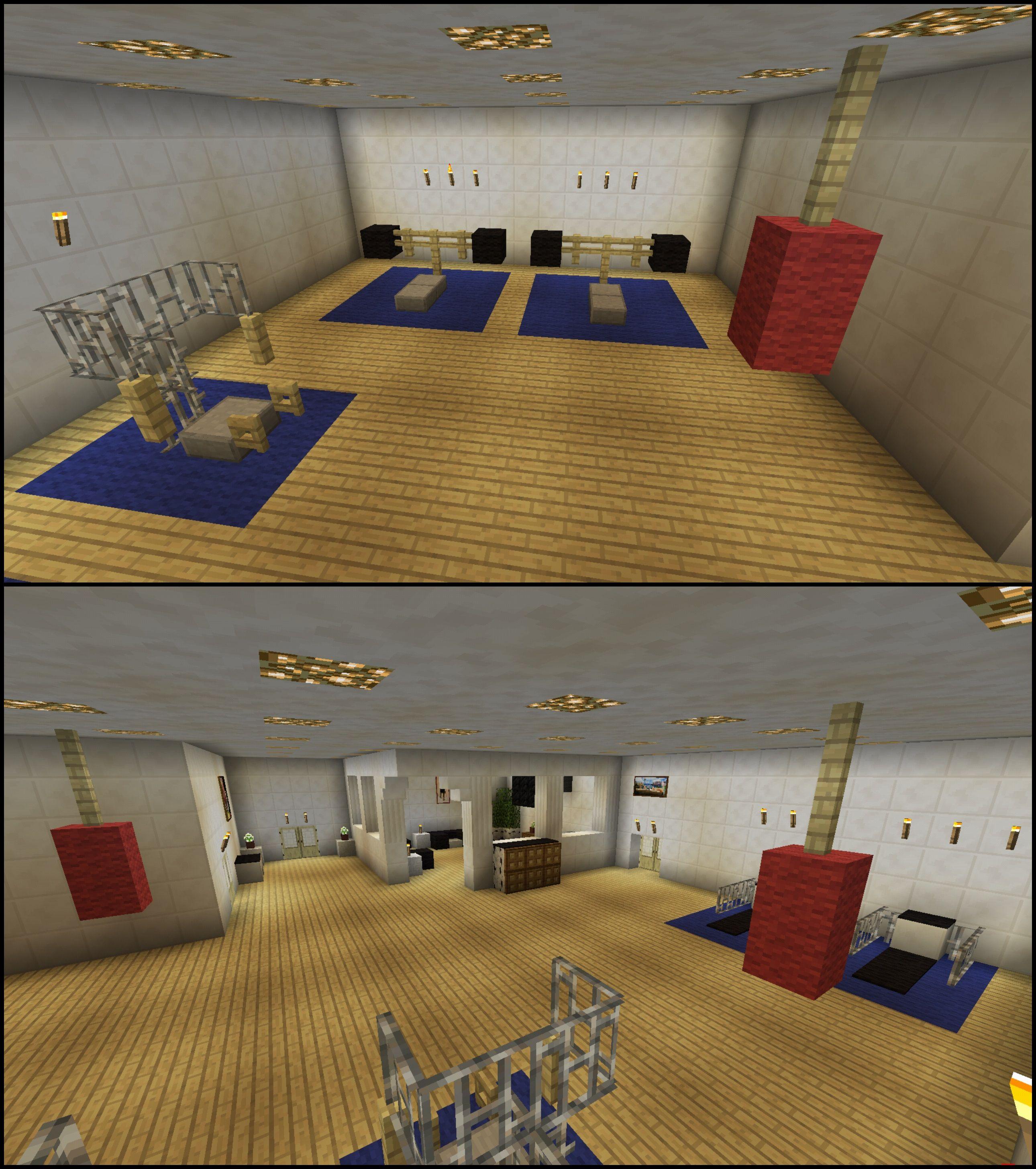 Minecraft gym workout equipment machine center minecraft