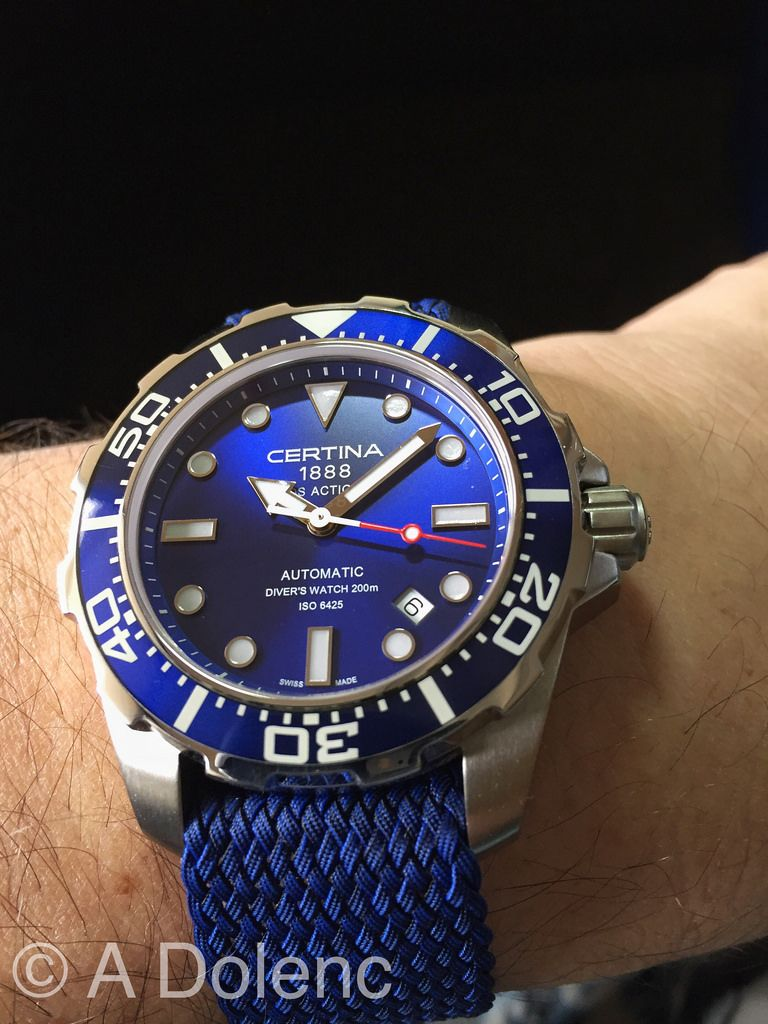 For Sale My Certina Ds 1 Action Diver This Is The Gorgeous Sunburst Blue Dial Model On The Original Ce Luxury Watches For Men Blue Watches Affordable Watches