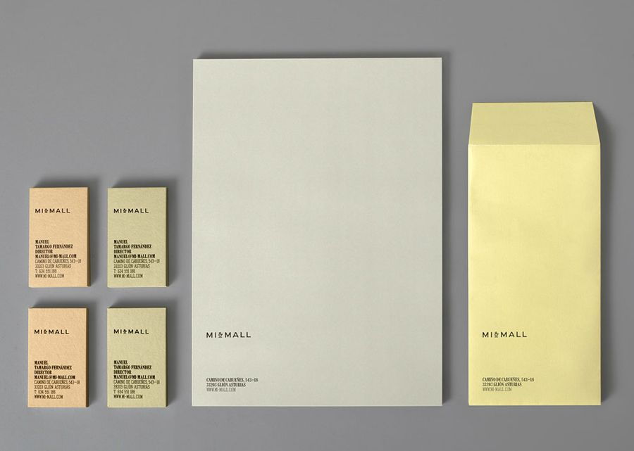 New Logo and Brand Identity for MiMall by Atipo BPO Stationery