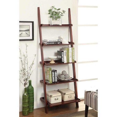 French Country Ladder Bookshelf 5 Shelf
