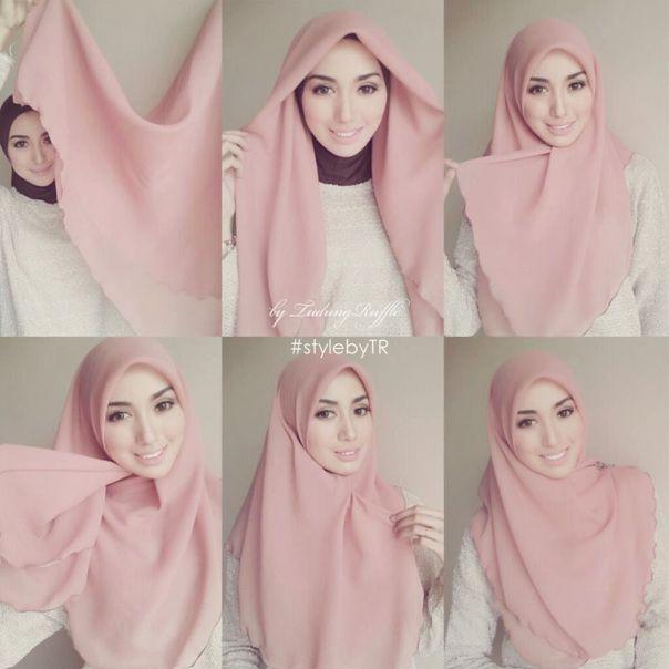 Tudung Bawal Ruffle Jpg 604 604 Simple Hijab Tutorial Hijab Tutorial Hijab Scarf