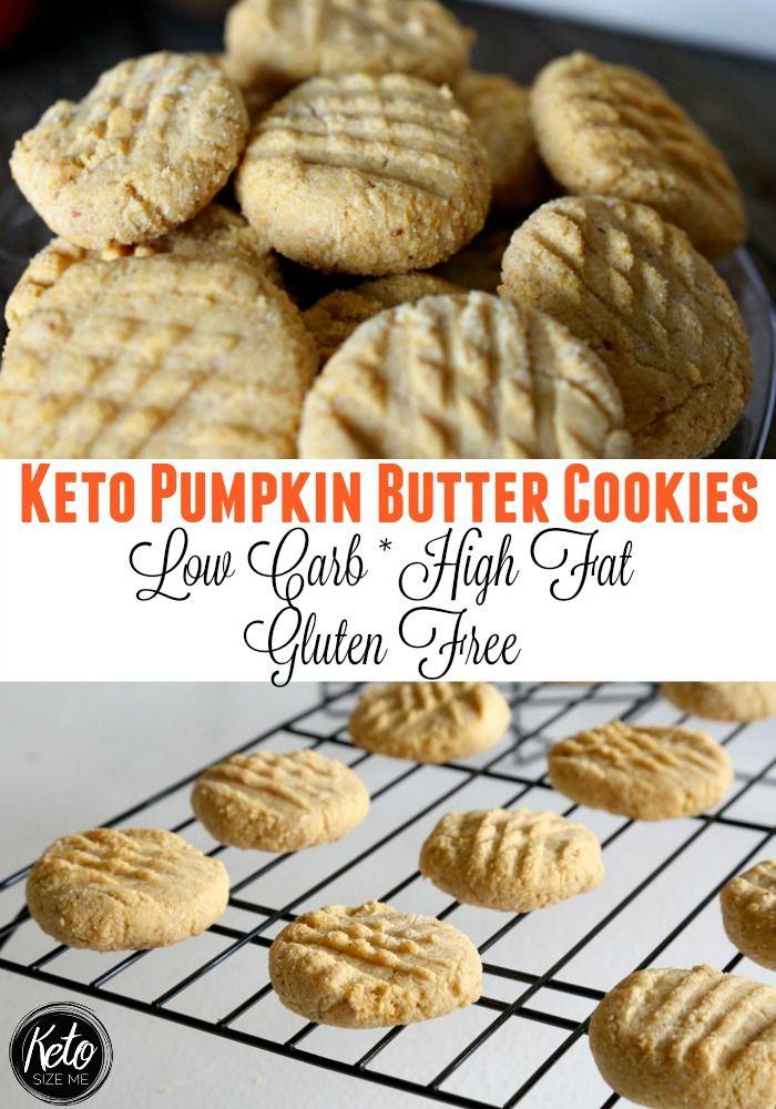 Keto Pumpkin Butter Cookies #ketocookierecipes