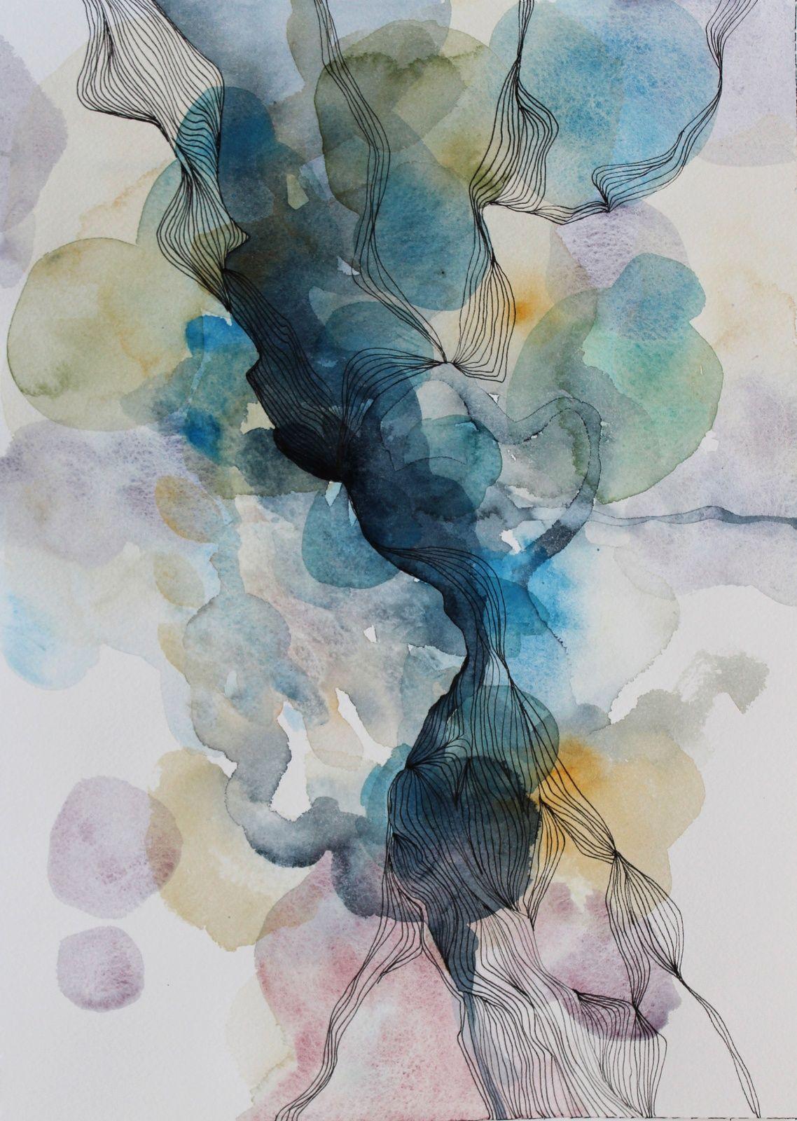 Creativity Workshop Positive Negative Watercolor Negative