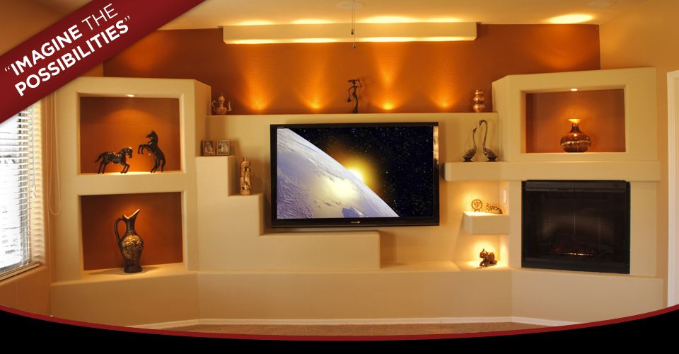 Custom built in media center custom media wall media for Media center built in ideas