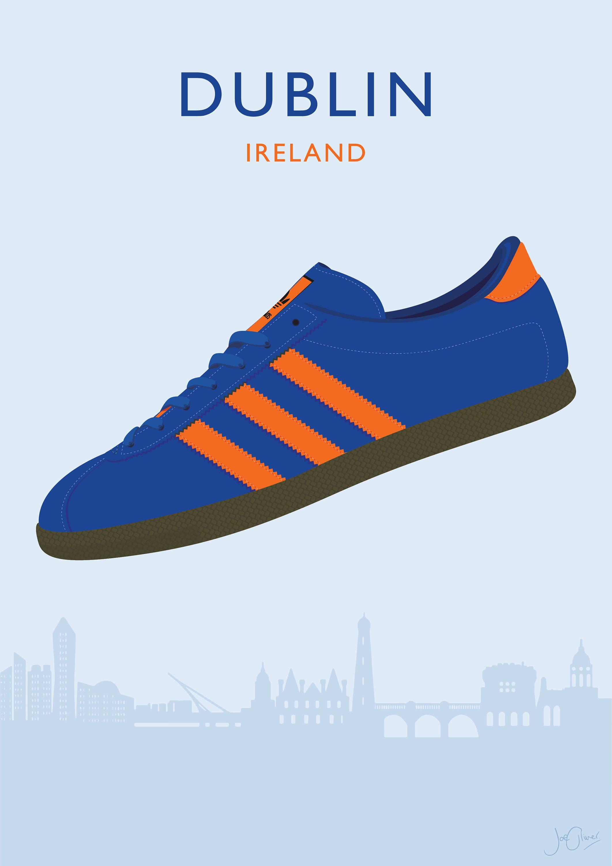 Adidas Originals Dublin Illustrated Poster Print A6 A5 A4 A3