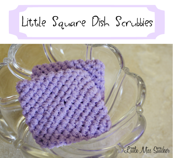 Little Crochet Square Scrubbie Free Pattern. These are so easy ...